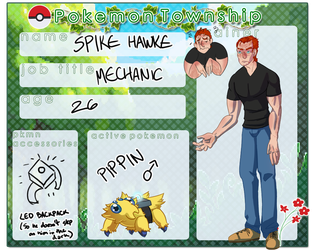 Pokemon Township: Spike Hawke by DoublePensword