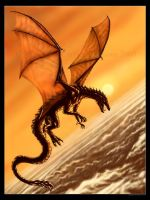 Dragon - Above the Storm by Aerin-Kayne