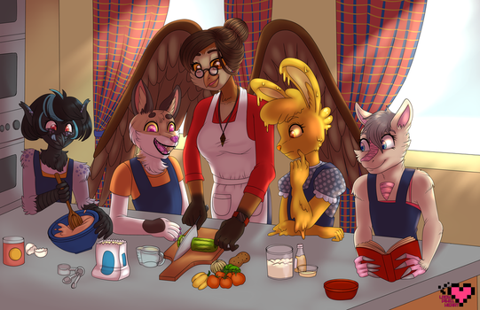 Oona's Cooking Class by ladypixelheart