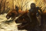 Warg Riders by feenixfabay
