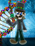 Luigi the Science guy by CrazyStarlightRene01