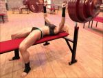 Girl benchpresses 270 kg (.gif video 1) by DahriAlGhul