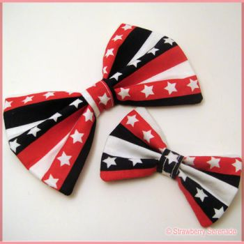 Stars and Stripes Bow 2 by Strawberryserenade