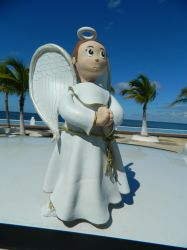Angel at the beach by pako0007