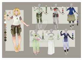 :: August Commission 03: Outfit Wardrobe :: by VioletKy