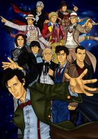 The 11 Doctors poster by CosmicThunder