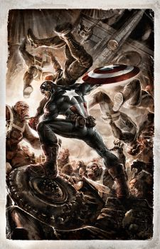 Cap vs. the Goon Squad by PatrickThornton