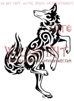 Dancing Coyote Tattoo by WildSpiritWolf