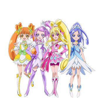 DokiDoki Pretty Cure - New Stage 2 Poses by frogstreet13