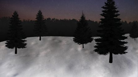Blanket of Snow at Dusk by herbalcell
