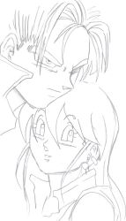 Trunks and Pan II lineart by liaartemisa