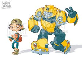 Cute IDW bumblebee and verity by a-loft-on-cybertron