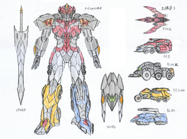 Megazord Machines Aliens by saramus01
