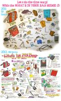 Whats In Your Bag Meme Comparison 2011 to 2013 by harusame