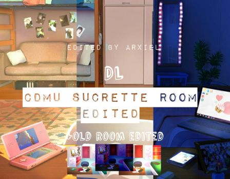 Sucrette Room University + Old room EDITED DL by Abixiel