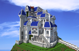 Minecraft Palais by skysworld