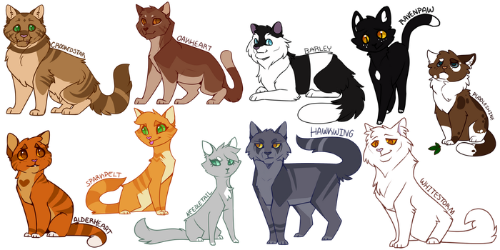 More Warrior Cats Designs by DrakynWyrm
