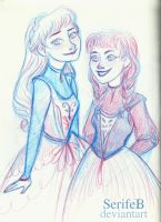 Princesses of Arendelle by SerifeB