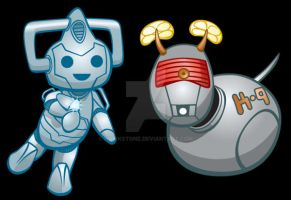 Chubby Cyberman and K9 by Hawkstone