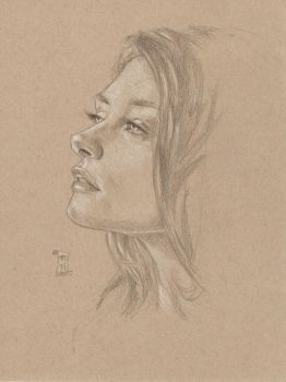 Cross-hatched portrait study by mhelwig
