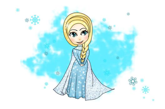 Elsa Frozen by fardiyah