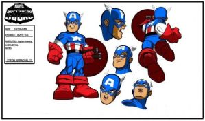 Captain America Model sheet by Nes44Nes