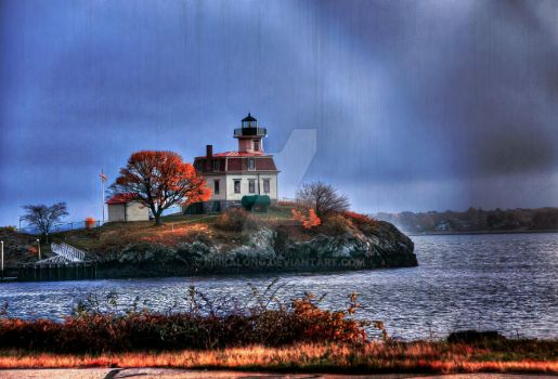 AutumnLighthouse20141111 8bit 10x6.7DianeVatcher by pinkalong