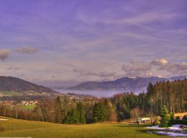 View on Lake Attersee by LunaticDesire
