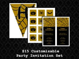 Party Invite Sets - Halloween 01 by PointyHat