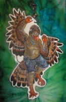 Chubby Dancing Bird Sample Badge by randomflyingpigeons