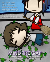 Mind The Gap Edited Poster by Spaztique