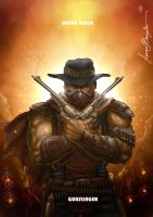 Mortal Kombat X-Erron Black-Gunslinger Variation by Grapiqkad