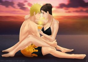 Commission: Naruto x TenTen - Birthday moment by Amenoosa