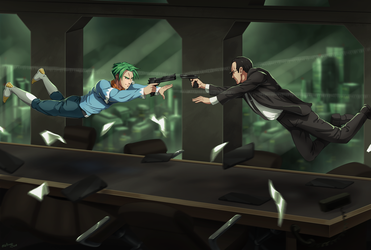 Commission: Battle In The Boardroom by R-Legend