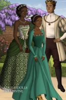 Disney Families- Tiana, Naveen and Evelyn by shenerdist