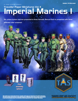 Traveller Paper Minis Vol 2 Imperial Marines I by MADMANMIKE