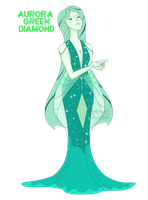 ~Diamondsona~ Aurora Green Diamond by RaineShiba