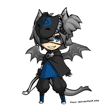 Humen Adopt #2 (Bat Kid) CLOSED by ShockLikeThunder
