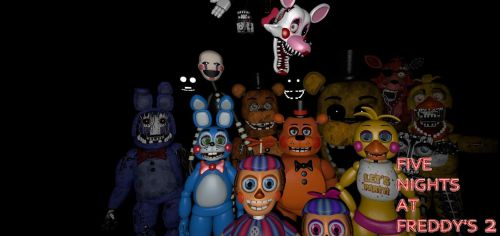 Five Nights at Freddy's 2 Desktop Background by nightmarefoxypirate0