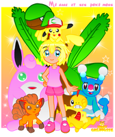 .:MEGANE AND HER POKEMONS:. by HOBYGRENOUSSE