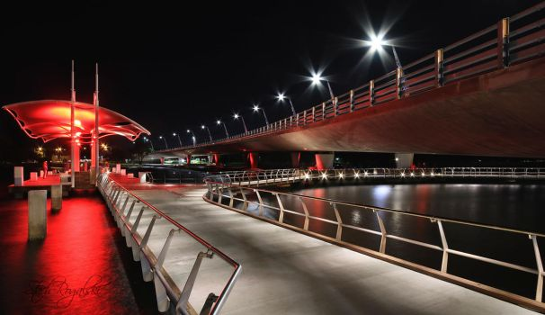 Red Delight - Fishing at night by StachRogalski