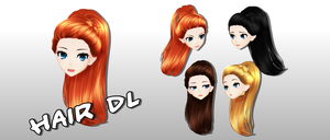 MMD Hair DL by Mary-O-o