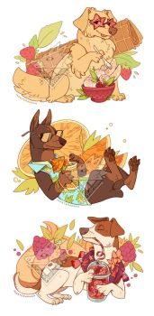 Summer Dogs by morteraphan