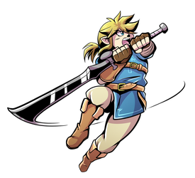 Link Has A Big Sword Color by Anaugi