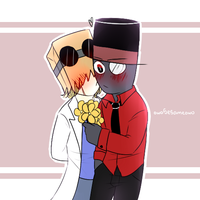 [Villainous] Flowers and Kisses by owoSesameowo