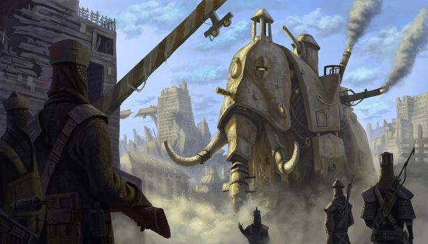 War Mammoth by MarkBulahao