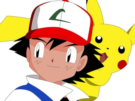 Ash and Pikachu by desmi