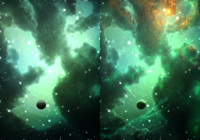 Nebula Painting Demonstration for ChimeraArtz by cosmicspark