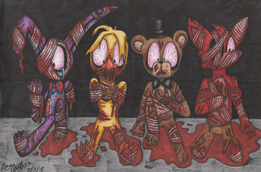 Blood, blood, gallons of the stuff (FNAF2) by RaynaOfTheDead