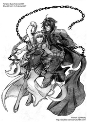 COMM: Feria and Dius - Dance of Chains by witch-girl-pilar